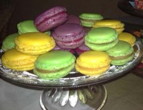 macarons caramelo salado, limón y frambuesas